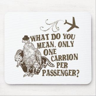 Camisa hilarante del chiste de la línea aérea mousepad