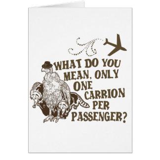 Camisa hilarante del chiste de la línea aérea tarjetón