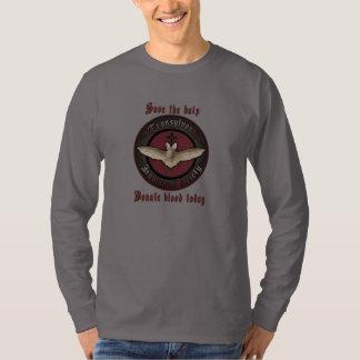 Camisa humana del palo de vampiro de la sociedad