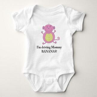 Camisa ida del mono de los plátanos para las niñas