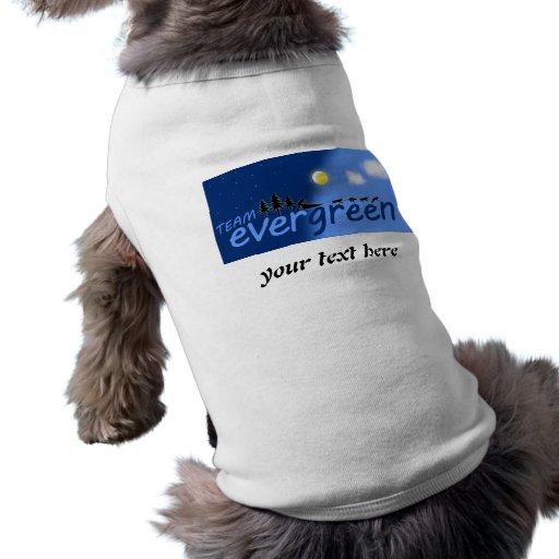 Camisa imperecedera del perro del equipo camisa de perro