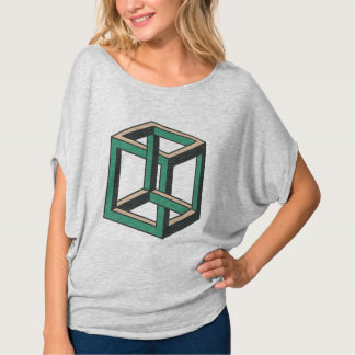 Camisa imposible de Flowy de la ilusión óptica del