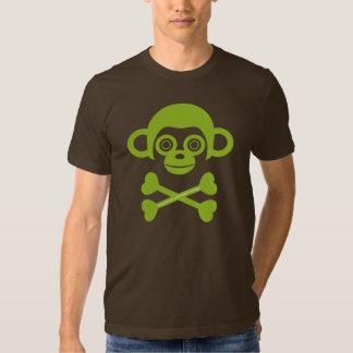 Camisa inacabada del cráneo de los monos