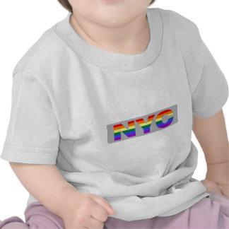"""Camisa infantil """"gris"""" del gay NYC"""