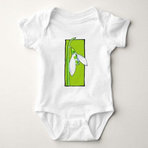 Camisa infantil verde de Snowdrop