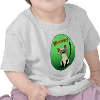 Camisa infantil (verde) siamesa del gato