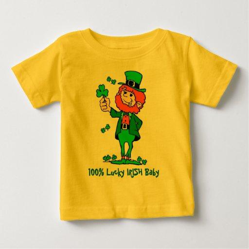 Camisa irlandesa afortunada del bebé del 100%