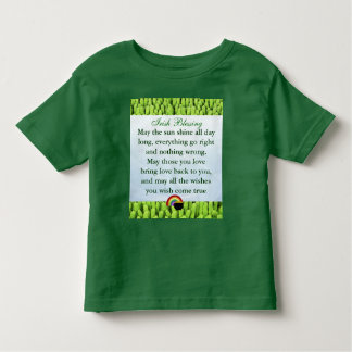 Camisa irlandesa del niño de la bendición
