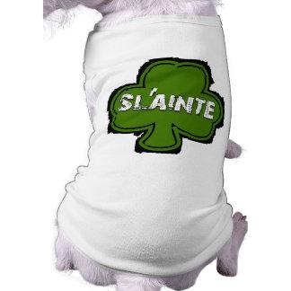 Camisa irlandesa del perro de la salud y de las playera sin mangas para perro