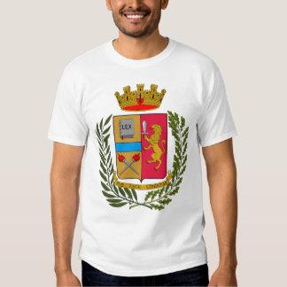Camisa italiana del escudo de armas de la policía