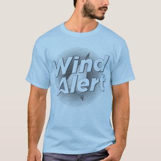 Camisa jabonosa alerta del viento