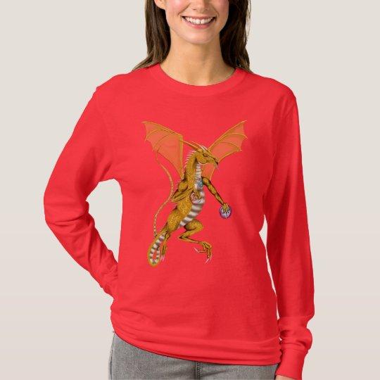 Camisa Jeweled del dragón del oro