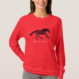 Camisa juguetona del arte del caballo de la