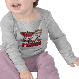 Camisa larga del bebé de la manga de la comida