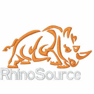 Camisa larga del logotipo de RhinoSource de la