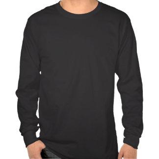 Camisa larga del negro de la manga con el logotipo