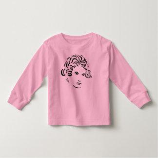 Camisa larga del niño de la manga de Beethoven --