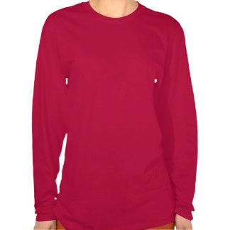 Camisa larga roja de la manga JIRP de las mujeres