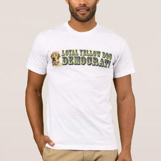 Camisa leal de Demócrata del perro amarillo