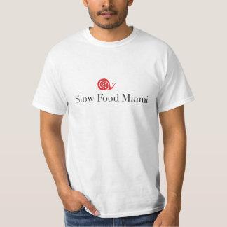 Camisa lenta del logotipo de Miami de la comida