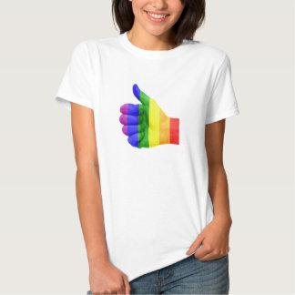 Camisa lesbiana gay del arco iris del orgullo de
