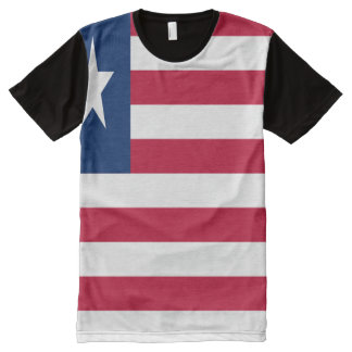 Camisa liberiana de la bandera nacional