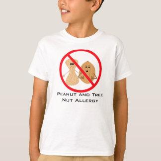 Camisa libre de la alergia del cacahuete y de la