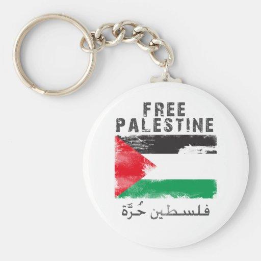 Camisa libre de Palestina Llavero Redondo Tipo Pin