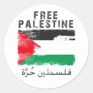 Camisa libre de Palestina Etiquetas Redondas