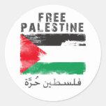 Camisa libre de Palestina Pegatina Redonda