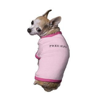 Camisa LIBRE del mascota de los ABRAZOS Ropa De Perros