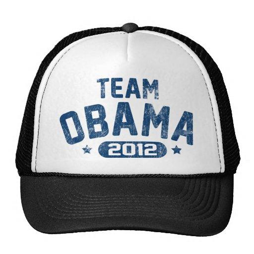 camisa ligera de obama del equipo gorros