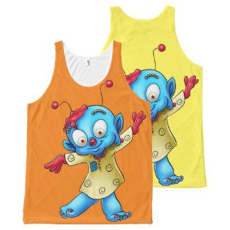 camisa linda de las camisetas sin mangas del
