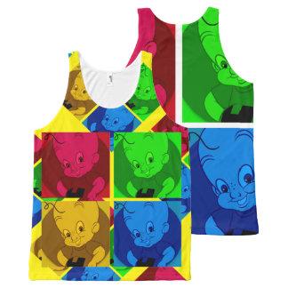 Camisa linda de las camisetas sin mangas del arte