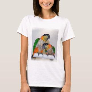 Camisa linda de los pares del loro del caique