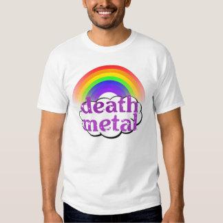 Camisa linda del arco iris del metal de la muerte