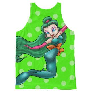 Camisa linda del dibujo animado de la sirena