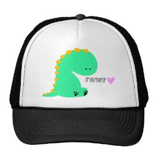 Camisa linda del dinosaurio de RAWR Gorro De Camionero