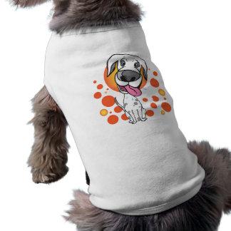 Camisa linda del mascota del perro del dibujo anim playera sin mangas para perro