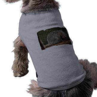 Camisa linda del mascota del puerco espín ropa de perro