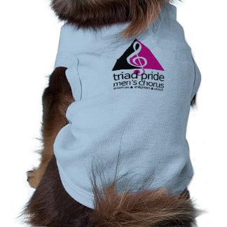camisa linda del mascota playera sin mangas para perro