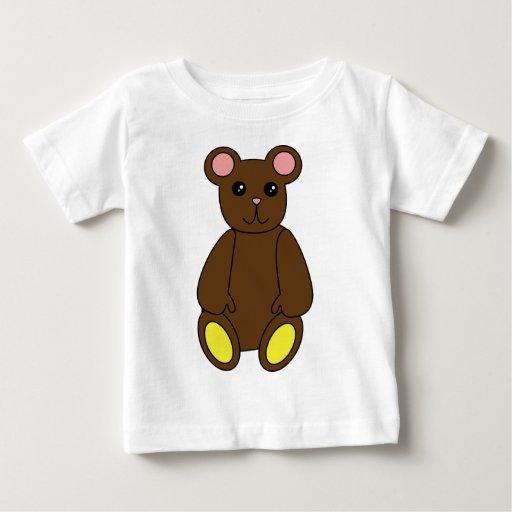 Camisa linda del oso de Brown