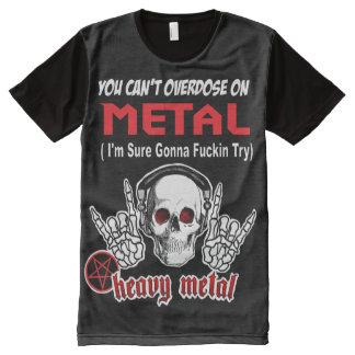 Camisa llena de la dosis del metal de la impresión