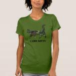 Camisa llenada modelo del gato de las señoras Camo