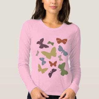 Camisa loca de las mariposas