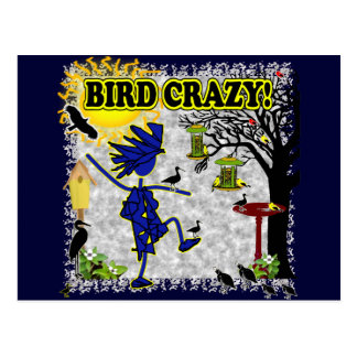 Camisa loca y más de la ropa del pájaro postales