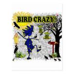 Camisa loca y más de la ropa del pájaro tarjetas postales