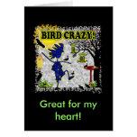 Camisa loca y más de la ropa del pájaro tarjetas