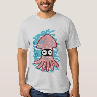 Camisa mal exhausta del calamar