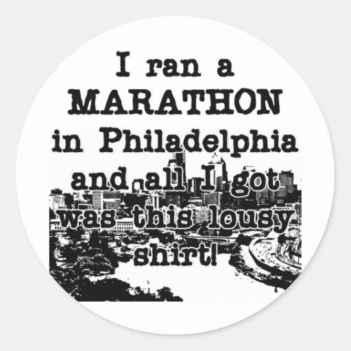 Camisa malísima de Philadelphia Pegatinas